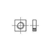 Piuliţă pătrată M3 oţel Acoperire: zinc Pas:0,5 BN:145 B3/BN145
