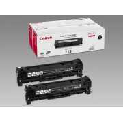 CANON CRG 718, Toner Cartridge, 2-Pack, Black, 3400 pages (CR2662B005AA)