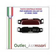 Tasto Pulsante Centrale Home Rosso Red per Samsung Galaxy S3 GT-I9300