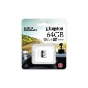 Memóriakártya, microSDXC, 64GB, CL10/U1, A1, 95/30 MB/s, KINGSTON Endurance (MKMS64GE)