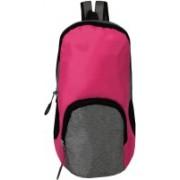 SEASONFRANK Outdoor Travel Backpack For Hiking Camping, Mini Small Backpacks Rucksack 10L Backpack (PINK & GREY, 10 L) 10 L Backpack(Pink, Grey)