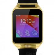 """MTK6260A BT V3.0 reloj elegante telefono w / 1.6""""? podometro - negro + oro"""