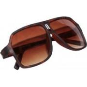 WELCOME TRENDS Retro Square Sunglasses(Brown)