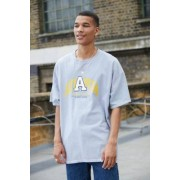 Urban Outfitters UO - T-shirt gris appliquéu00a0Atlantau00a0- taille: XS