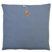 Dille&Kamille Housse de coussin, coton bio, bleu rayure, 45 x 45 cm