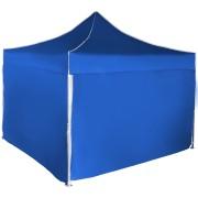 Gyorsan összecsukható sátor 3x3 m - alumínium, Kék, 4 oldalfal