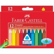 Creioane Cerate Triunghiulare 12 culori Faber-Castell