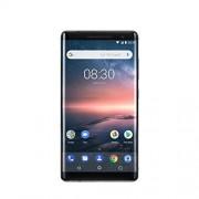 Nokia 8 Smartphone, 13,4 cm (5,3 inch), 64 GB intern geheugen, 4 GB RAM, 13 MP-camera, single-sim, spatwaterdicht (IP54), Android Nougat, roestvrij staal, 128gb, zwart