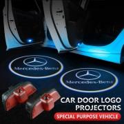 Lumini de usi LED Logo Mercedes C class proiectoare dedicate