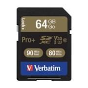 Verbatim PRO Plus 64 GB Class 10/UHS-I (U3) SDXC - TAA Compliant