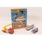 Centy Toys Emergency Response Team Pack of Ranger police, TMP Ambulance & Fire Ladder Truck