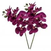 Shoppartners Violet paarse Phaleanopsis/vlinderorchidee kunstbloem 70 cm