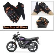AutoStark Gloves KTM Bike Riding Gloves Orange and Black Riding Gloves Free Size For Honda Dream Neo