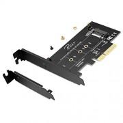 Rivo Adaptador de tarjeta PCI-E Riser PCIe M.2 PCIe SSD a PCIe Express 3.0 x4, Soporta M2 NGFF PCI-e 3.0, 2.0 o 1.0, NVMe o AHCI, M-Key, 2280, 2260, 2242, 2230 unidades de estado sólido