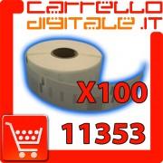 Etichette Compatibili con Dymo 11353 Bixolon Seiko 100 Rotoli