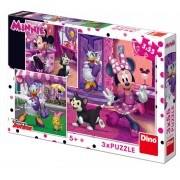 PUZZLE 3 IN 1 - O ZI CU MINNIE (55 PIESE) - DINO TOYS (335226)