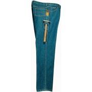 Fabrik Jeans aus strapazierfähigem Denim, Farbe blau, Gr. 56