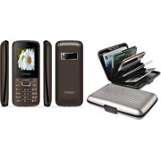 Combo of IKall K88 and Alluminium Wallet (Dual Sim 1.8 Inch Display 800 Mah Battery Made In India)