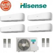 Hisense Climatizzatore Condizionatore Hisense Quadri Split Inverter Serie Mini Apple Pie 3 9+9+9+12 Con 4amw81u4sad1