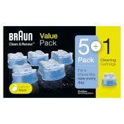 Braun Cleaning Cartridge 5+1