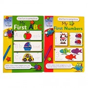 Pennine Children's A4 Educational Wipe Away Books - My First Abc and Numbers Each 8 Pages by Martello