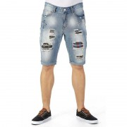 X-Ray Jeans Rips & Stars Paint Spatter Shorts XMS97094
