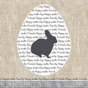 Duni 60x Pasen servetten konijn rustiek grijs/beige 33 x 33 cm