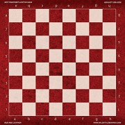 Red Leather - Full Color Vinyl Chess Board by Wild Style Boards