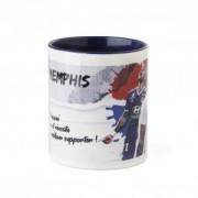 Olympique Lyonnais Mug Dedicace Memphis Message Perso 19/20 - Messsage - 8- Bonne année OL - Foot Lyon