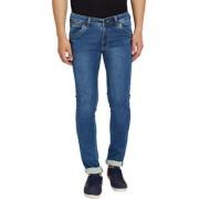 Stylox Men's Premium Stretchable Slim Fit Casual Wear Mid Rise Light Blue Jeans