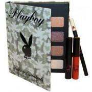 Комплект за грим Playboy Cosmetics Bunny Essentials, Спирала, Гланц за устни, Молив за устни, Сенки за очи, 5060294394099