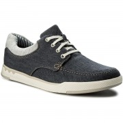 Обувки CLARKS - Step Isle Lace 261327647 Navy Canvas
