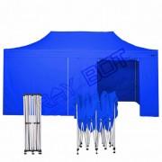 ray bot Gazebo pieghevole 3x6 blu professionale con laterali PVC 350g