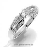 GEMS luxusní prsten s diamanty Skarlet, bílé zlato 386-1227