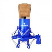 Auna CM001BG Micro condensateur voix studio XLR - bleu/or