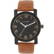 Invaders INV-POLO-BLKTAN Premium leather strap mens watch