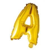 Hisab joker Folieballong med bokstäver i guld 41 cm (S)