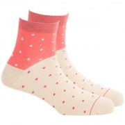 Soxytoes Dot Your Eyes Beige Cotton Ankle Length Pack of 1 Pair Polka Dot for Men Casual Socks (STS0002E)