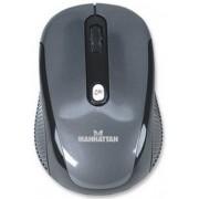 Mouse optic Manhattan Performance, Wireless (Negru-Argintiu)