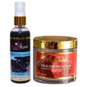 PINK ROOT WILD CHERRY SCRUB 100Gm - PR CHARCOAL FACE WASH