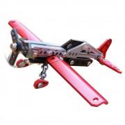 Meccano - Set constructie metalic 2 in 1 Avion pentru acrobatii, 78 piese