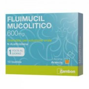 Zambon Fluimucil Mucol 600 Mg Granulato Per Soluzione Orale Senza Zucchero, 10 Bustine