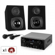 "Electronic-Star Karaoke Party Set ""Rio Rumble NEO"" Altavoces, amplificador y 2x Microfono (PL-3553-11093)"