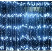 Perdea Luminoasa Ploaie Prelungibila 3x2.5m 504LED Alb Rece Ext. FI 6014