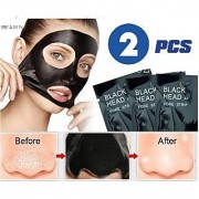 2 Pcs Pack Blackhead Peel-off Mask Whitehead Remover Charcoal Anti Tan Cleansing Purifying Acne