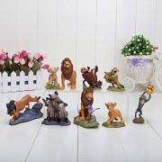 9pcs/set 5~9CM High The Lion King Animals PVC Cartoon Anime Figures Model Toys