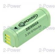 2-Power Digitalkamera Batteri Canon 3.7v 600mAh (NB-9L)