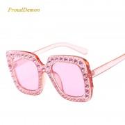 Ochelari de soare roz inserati cu cristale ProudDemon