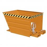 Kippbehälter kompakte Bauweise, Volumen 0,7 m³ gelborange