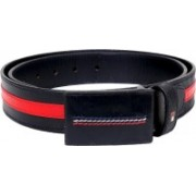 Tommy Hilfiger Men Casual, Formal Blue, Red Genuine Leather Belt